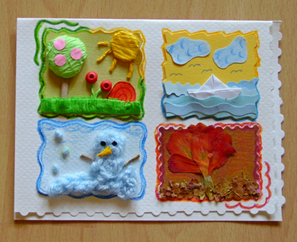 Seasons - a postcard